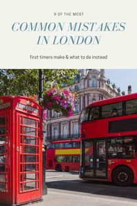 Common mistakes in london