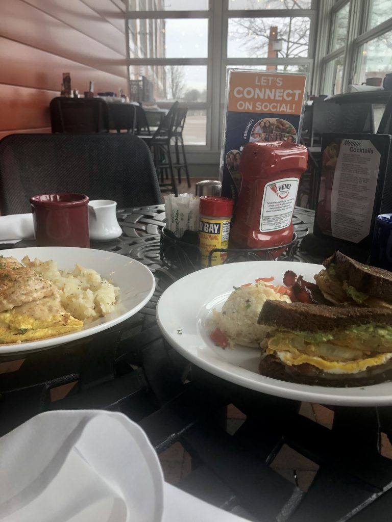 breakfast food at miss Shirleys restaurant Baltimore