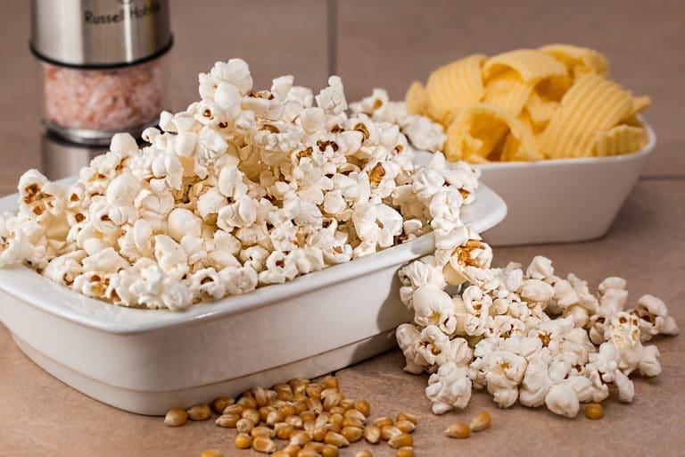 Popcorn, Chips, salt