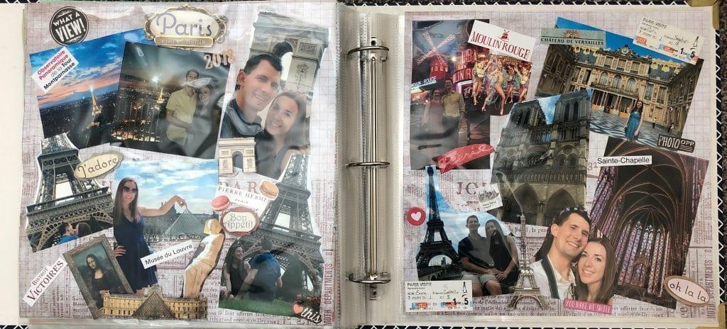 scrapbook images of Paris