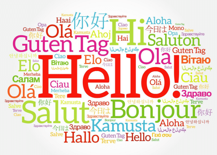 hello written in different languages