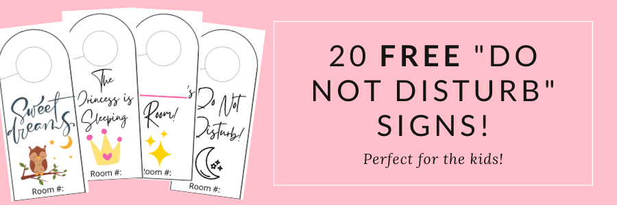20 FREE Do Not Disturb Signs!
