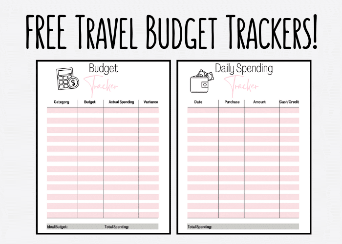 free travel budget trackers