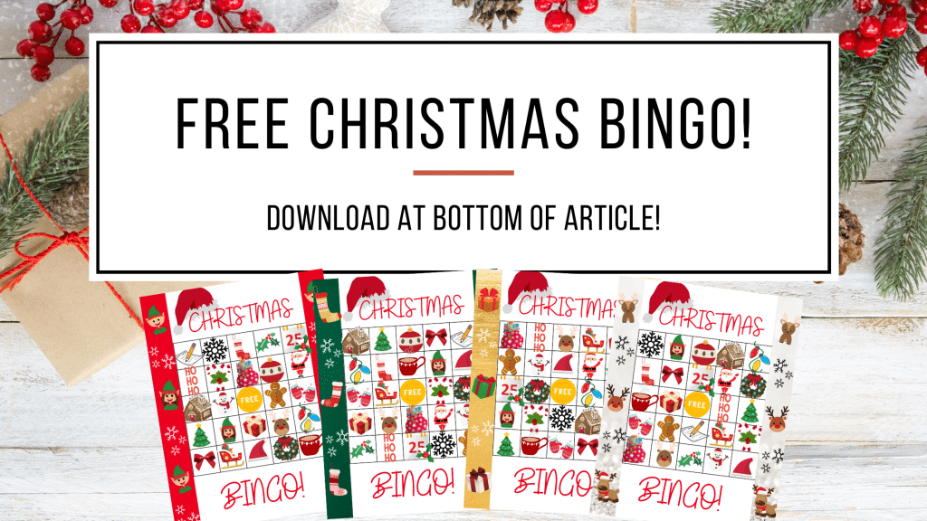 Free Christmas bingo boards