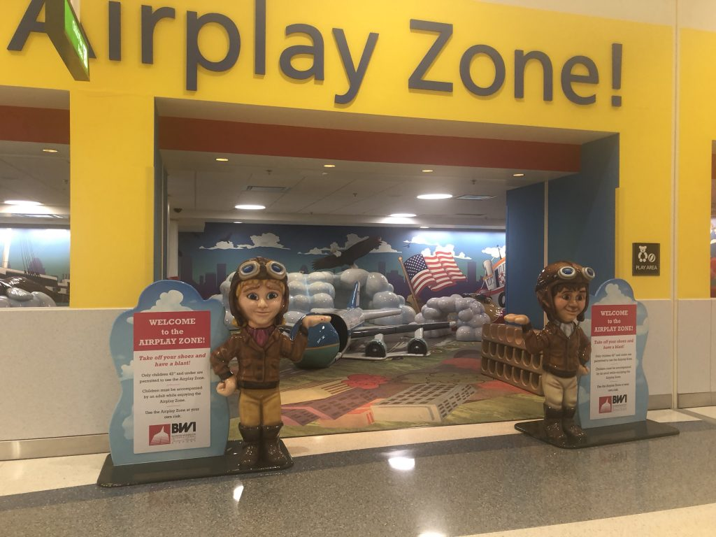playground inside of airport