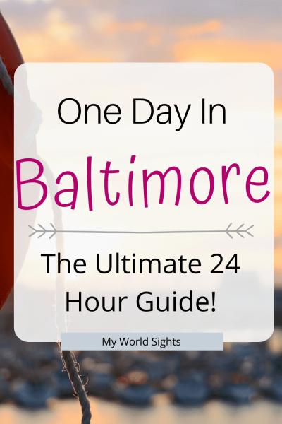 One day in Baltimore