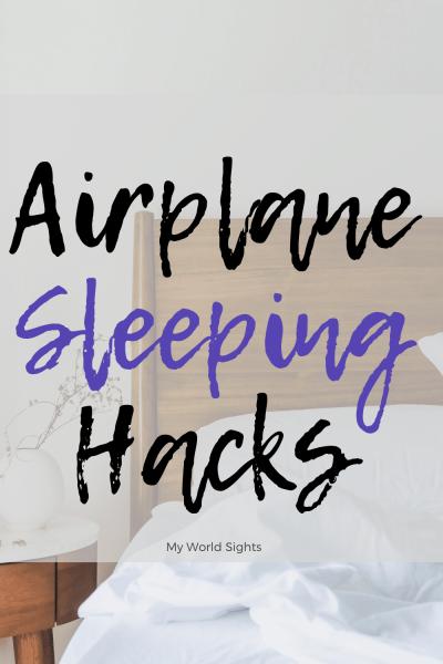 airplane sleeping hacks
