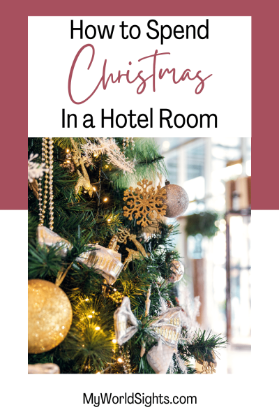 christmas in a hotel room