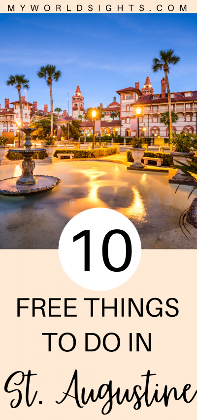 free things to do in st augustine florida